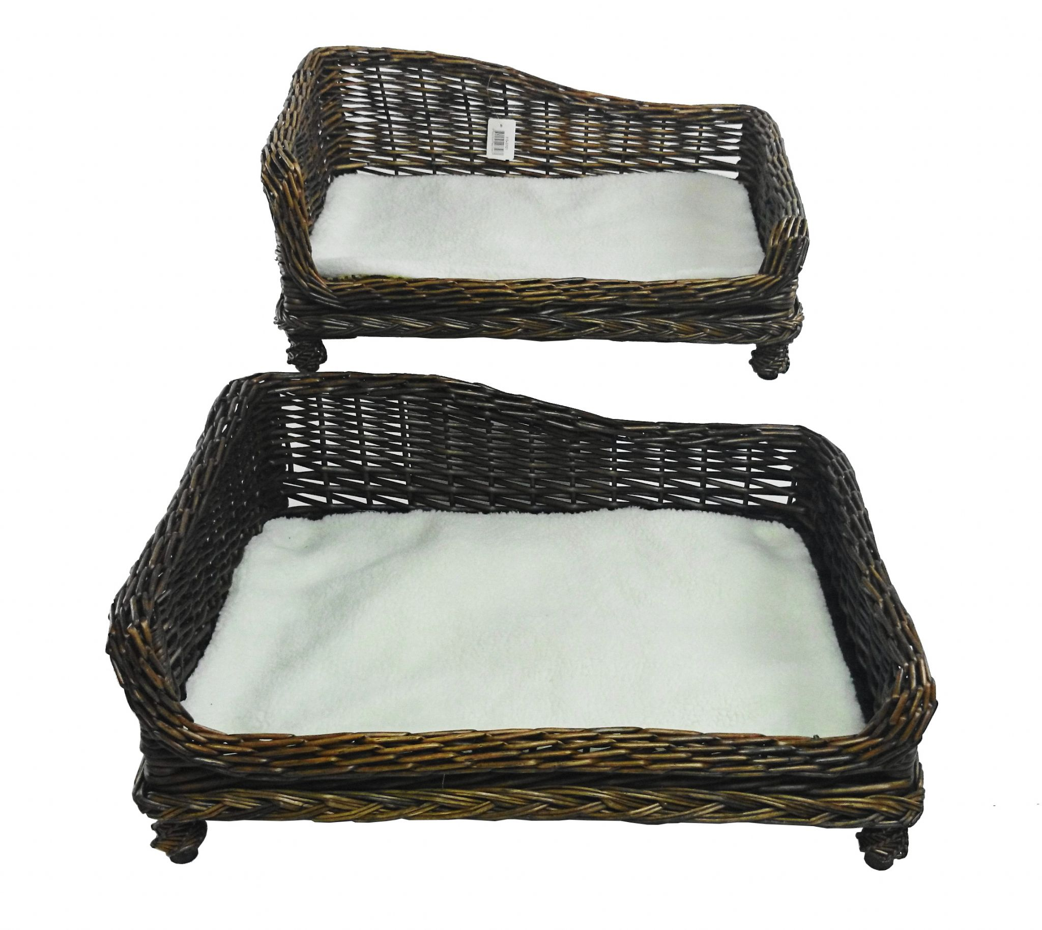 Large Big Huge Xl Wicker Dogs Puppies Pet Bed Basket Seat